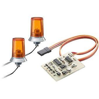 Carson Modellsport 500907010 Orange 24 x 15 mm lumière d'urgence incl. drive 1 paire