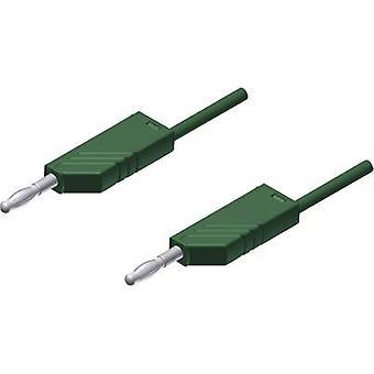 SKS Hirschmann MLN 200/2,5 GN Test lead [Banana jack 4 mm - Banana jack 4 mm] 2 m Green