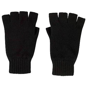 Johnstons of Elgin Fingerless Gloves - Black