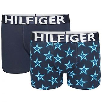 Tommy Hilfiger jungen 2 Pack Boxer Trunk, Keramik / Navy Blazer, Medium