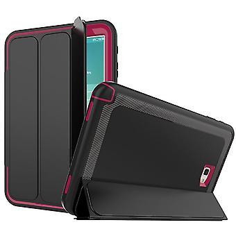 Mehrteilige Hybrid Outdoor Schutzhülle Case Pink für Samsung Galaxy Tab A 10.1 T580 T585 Tasche Wake UP 3folt