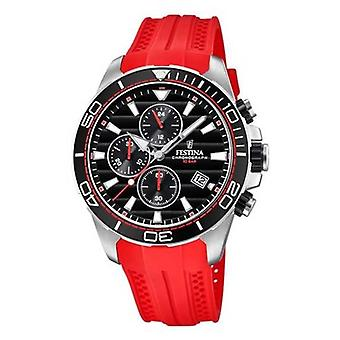 Festina Tour Of Britain 2018 Chrono Red Rubber Strap F20370/3 Watch