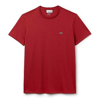 Lacoste Crew Neck Pima bomuld Jersey T-shirt, rød, lille