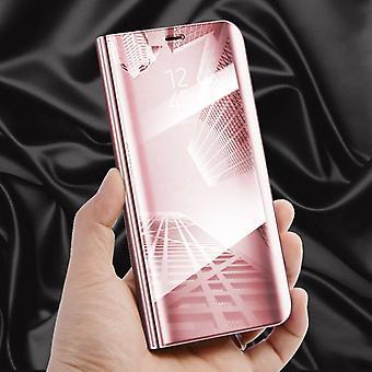 Dla Apple iPhone XS MAX 6,5 calowy widok lustro lustro smart cover różowy rękaw okładka etui torba case nowy sprawa Funkcja budzenia