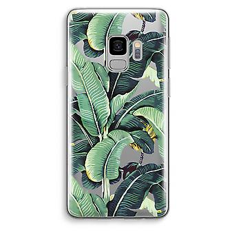 Samsung Galaxy S9 Transparent Case (Soft) - Banana leaves