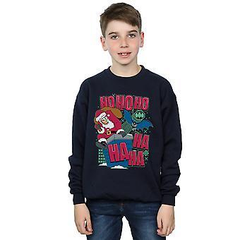 DC Comics Boys Batman and Joker Ha Ha Ha Ho Ho Ho Sweatshirt
