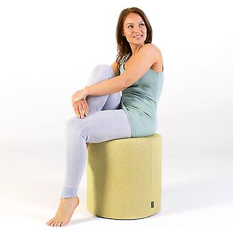 Icon® Serenity Eclipse Stool - Aloe Green, 42cm x 42cm - Water Resistant Indoor Outdoor Pouffe