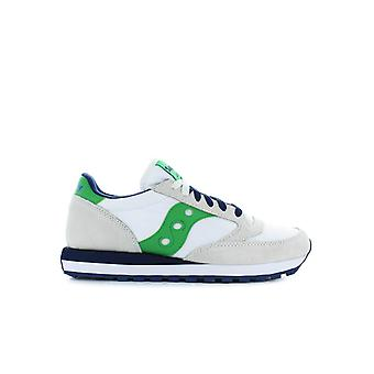 SAUCONY ORIGINALS JAZZ WHITE/GREEN SNEAKER