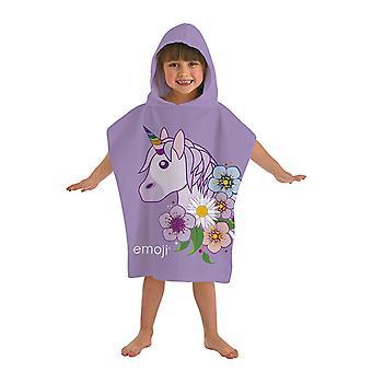 Emoji Unicorn Badponcho asciugamano Poncho 115 * 50 cm