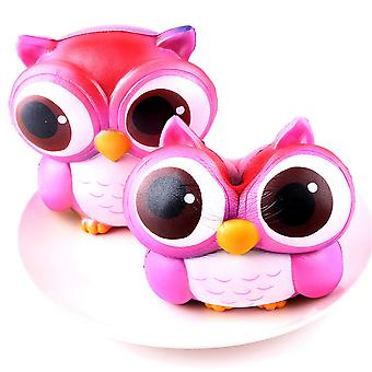 15 cm beautiful big eyes Pink Owl Cream Scented Squishy Slow Increasing Squeeze toy collection Nice birthday parties for Kids