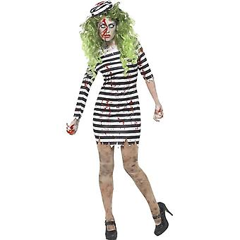 Zombie Jail Bird Costume, XL