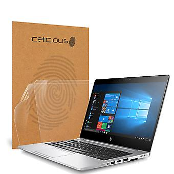 Celicious Vivid Invisible Glossy HD Screen Protector Film Compatible with HP EliteBook 735 G5 (Touch) [Pack of 2]