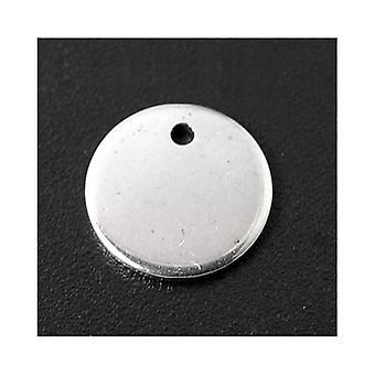 حزمة 10 × فضة 304 الفولاذ المقاوم للصدأ شقة العملة ختم الفراغات 10 مم ZX20230