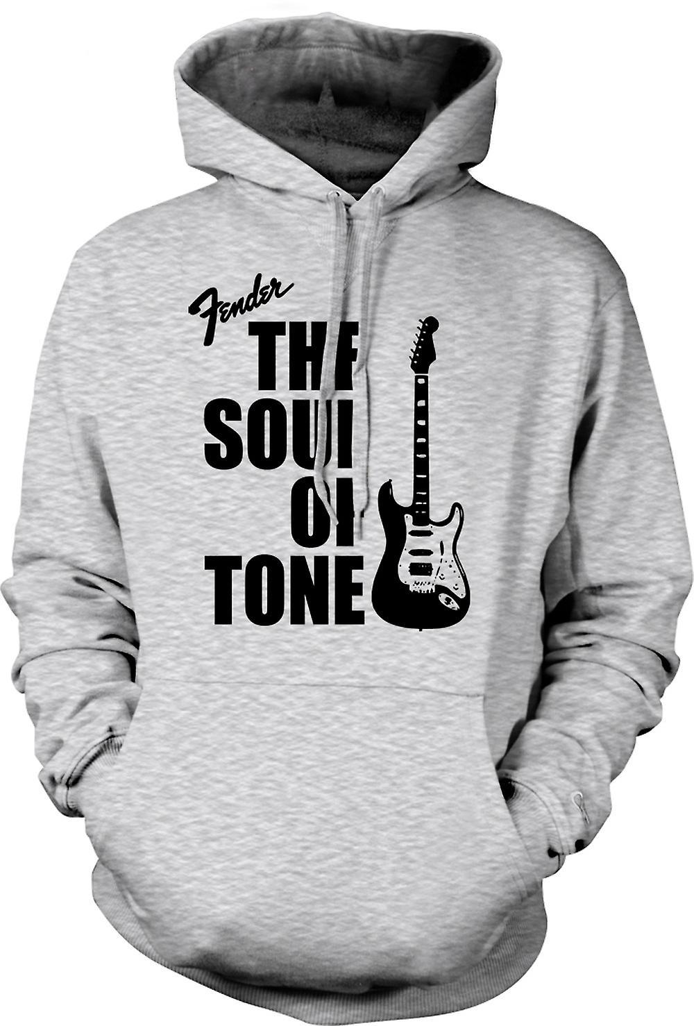 Mens Hoodie - Fender Strat Soul Tone Guitar