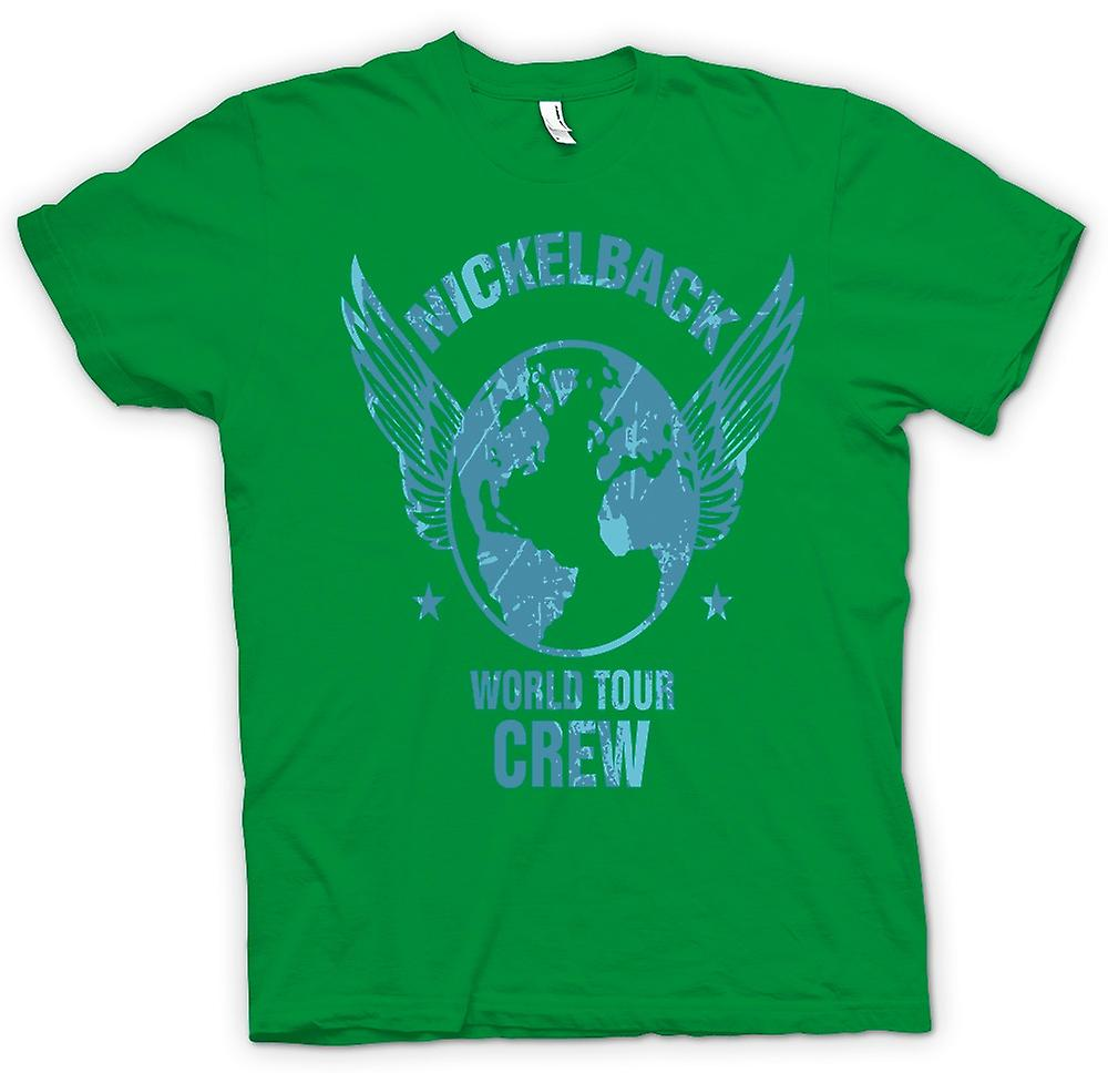 Heren T-shirt-Nickelback World Tour bemanning