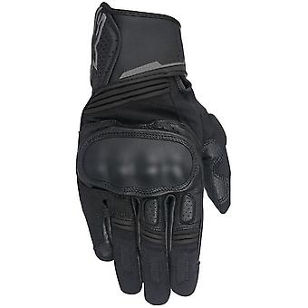 Alpinestars Black-Anthracite Booster Motorcycle Leather Gloves