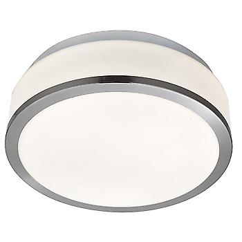 Searchlight 7039-23SS Bathroom Flush Modern Satin Silver Light with Op