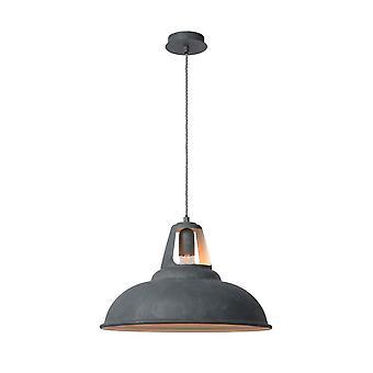 Inspiracja Markit przemysłowe okrągły metalowy wisiorek szare światło