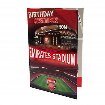 Arsenal Pop Up Birthday Card
