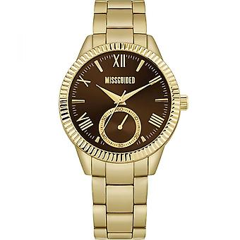 Missguided | Gold Stainless Steel Bracelet | Brown Dial | MG006GM Watch