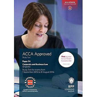 ACCA F4 Corporate and Business Law (English): Study Text