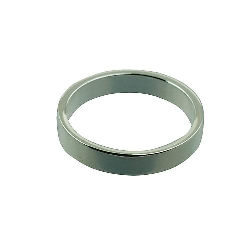 Silver 4mm plain flat Wedding Ring Size Z