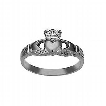 Silver 9x24mm ladies Claddagh Ring Size P