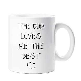 O cachorro Me ama a melhor caneca