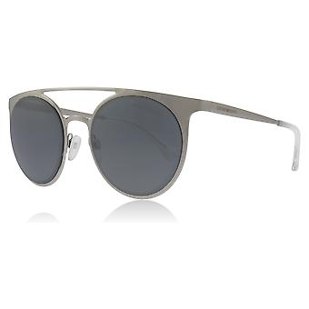 Emporio Armani EA2068 30156G Silver EA2068 Round Sunglasses Lens Category 3 Lens Mirrored Size 52mm
