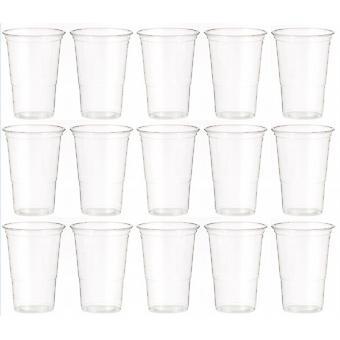 Duidelijke Plastic partij/picknick/Bar-B-Q wegwerp bier/drinken halve Pint bril 120/Pack - (6273)