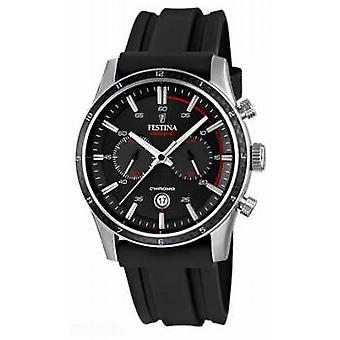 Festina Mens Tour Of Britain 2015 Black Rubber Strap F16874/I Watch