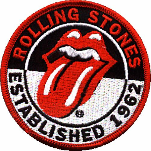 Rolling Stones Estb 1962 round iron-on / sew-on cloth patch  (ro)