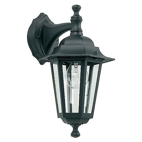 Endon YG-2004 Traditional Style Black Aluminium Outdoor 6-Sided Down Wall Lantern