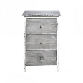 Rebecca möbler Dresser säng låda Natural 3 lådor grå shabby badrum rum