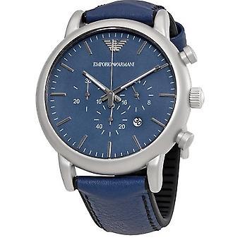 Emporio Armani Ar1969 Luigi Chronograph Blue Dial Men's Watch