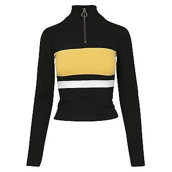 Urban Classics Women's Long sleeve shirt 3-tone zip