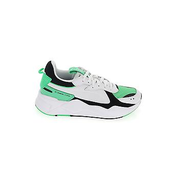 Puma White/green Leather Sneakers