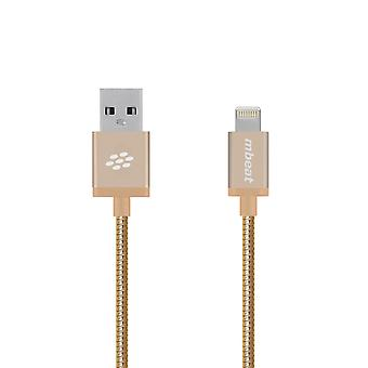 mbeat 'Toughlink' 1.2m Metal Braided MFI Lightning Cable