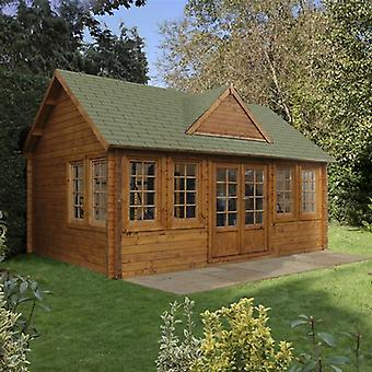 Forest Garden Cheviot ClockHouse Log Cabin 5.5 x 4m