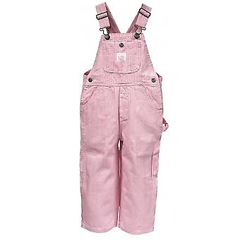Chicas clave rayar dungarees rosa
