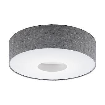 Eglo - Romao  LED Flush Ceiling Light Satin Nickel Grey EG95346