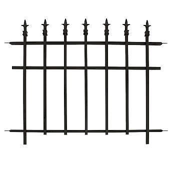 Wondermiddel klassieke tuin hek sectie zwart