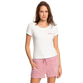 Roxy Young Womens Frozen Day Casual T-Shirt - Snow White