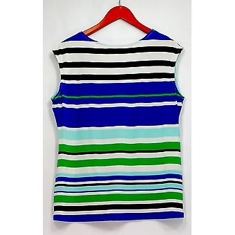 Calvin Klein Plus Top Striped Necklace Manganese Blue