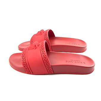 Versace Pool Sliders Red