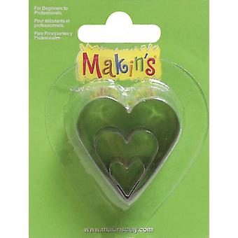 Makin's Clay Cutters 3 Pkg Heart M360 7