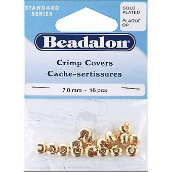 Gold Crimp Covers 7Mm 16 Pkg 349A 016