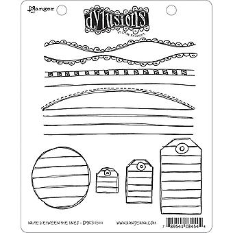 Dyan Reaveley's Dylusions Cling Stamp Collection Write Between The Lines Dyr 34544