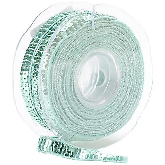 Square Sequin Trim 10Mm X 15.95 Yards Sea Green 10 10 9801