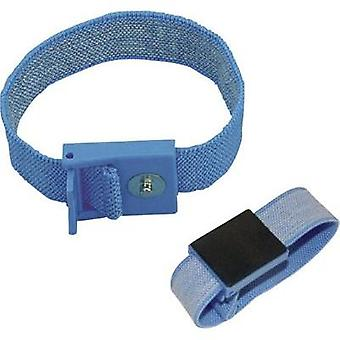 ESD wrist strap Light blue BJZ 4 mm stud and socket